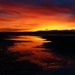 Sunset at Back Beach Tahunanui, Nelson